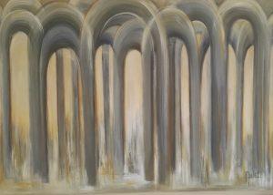 Choices een acryl schilderij op hout 100 x 70cm gemaakt door Annet Schrander