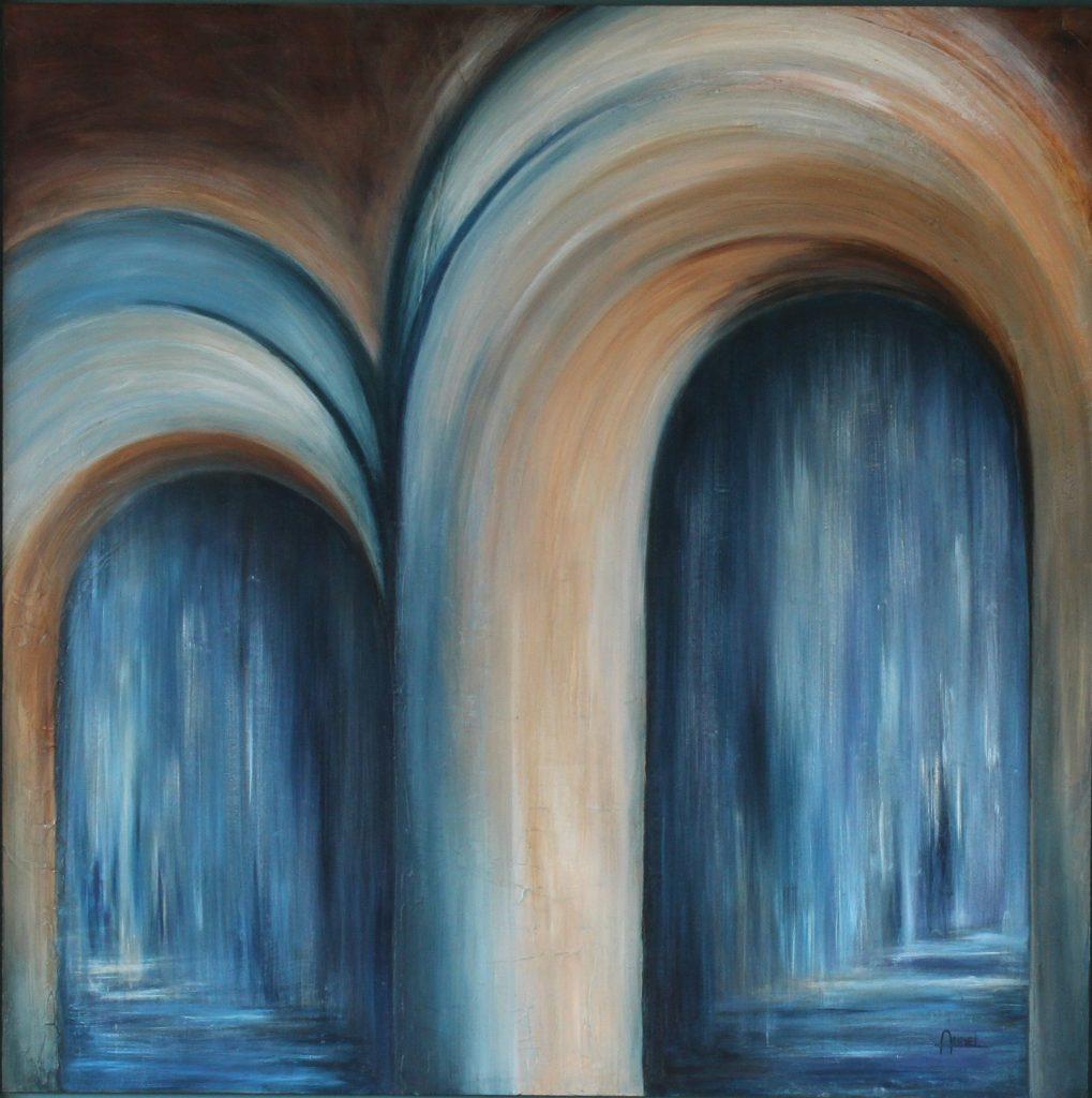 Keus een acryl schilderij op hout 80 x 80cm gemaakt door Annet Schrander